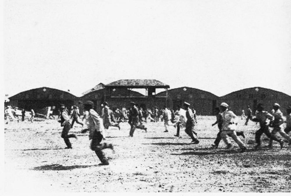 Reconstitution de son arrivée à El Bosque Article 23 élèves qui courent