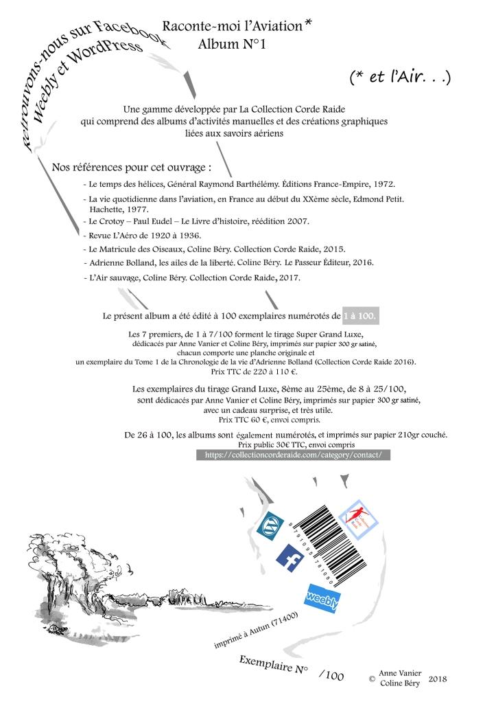 Dernière page et colophon album