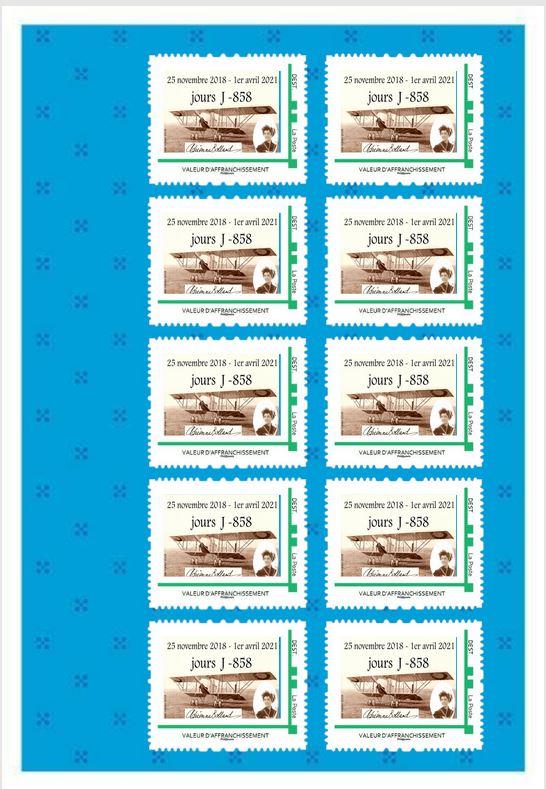 Livret 1 timbres planche